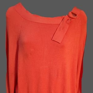 Larry Levine Women's XL Extra Soft Orange Sweater